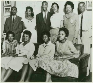 Little Rock Nine Students with Daisy Bates