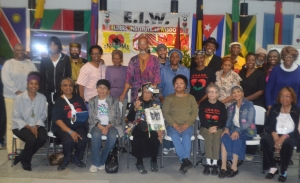 Members of the Elders Institute of Wisdom and supporters gather at Shape Community Center. (Photo: Cierra Duncan, Defender)